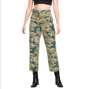 Free People Remy Pant Camo Printed NWT